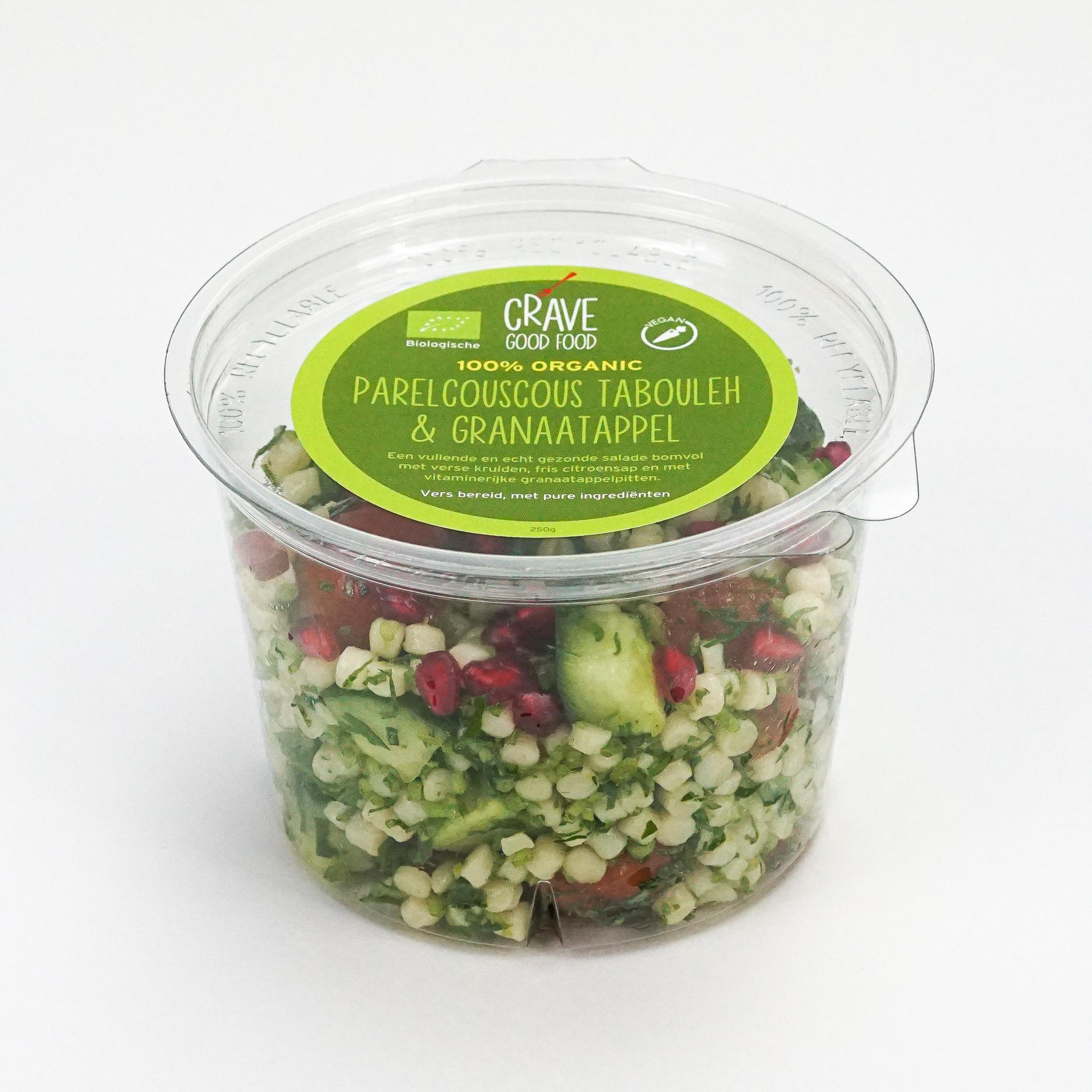 Parel Couscous Tabouleh met Granaatappel Salade